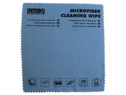 6467 cistici uterka mikrovlakno s potiskem velmi jemna na omak 30x30cm modra logo
