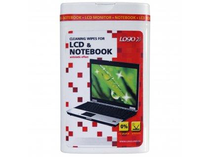 6509 cistici trhaci ubrousky na lcd notebooky doza 50ks logo