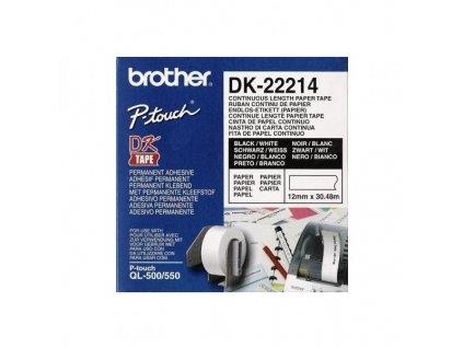 6878 brother dk 22214 papirova role 12mm x 30 48m bila 1 ks