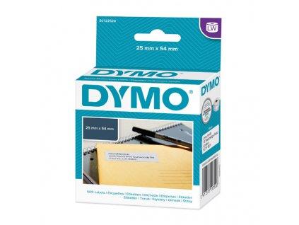 6920 dymo papirove stitky 54mm x 25mm bile pro zpatecni adresu 500 ks 11352 s0722520