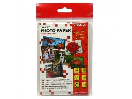 7067 logo foto papir leskly bily 10x15cm 4x6 260 g m2 2880dpi 20 ks 16720 inkoustovy