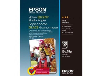 7106 epson value glossy photo paper foto papir leskly bily 10x15cm 183 g m2 100 ks c13s400039 inkoustovy