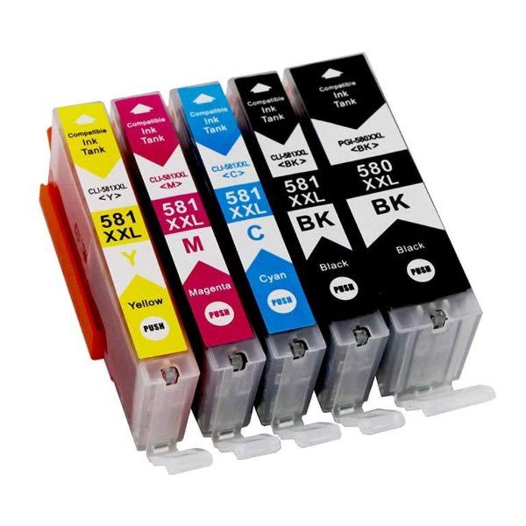 Kompatibilní inkoustová náplň Canon PGI-580 XXL + CLI-581 XXL, Bk/C/M/Y (1970C001, 1998C005) Multipa