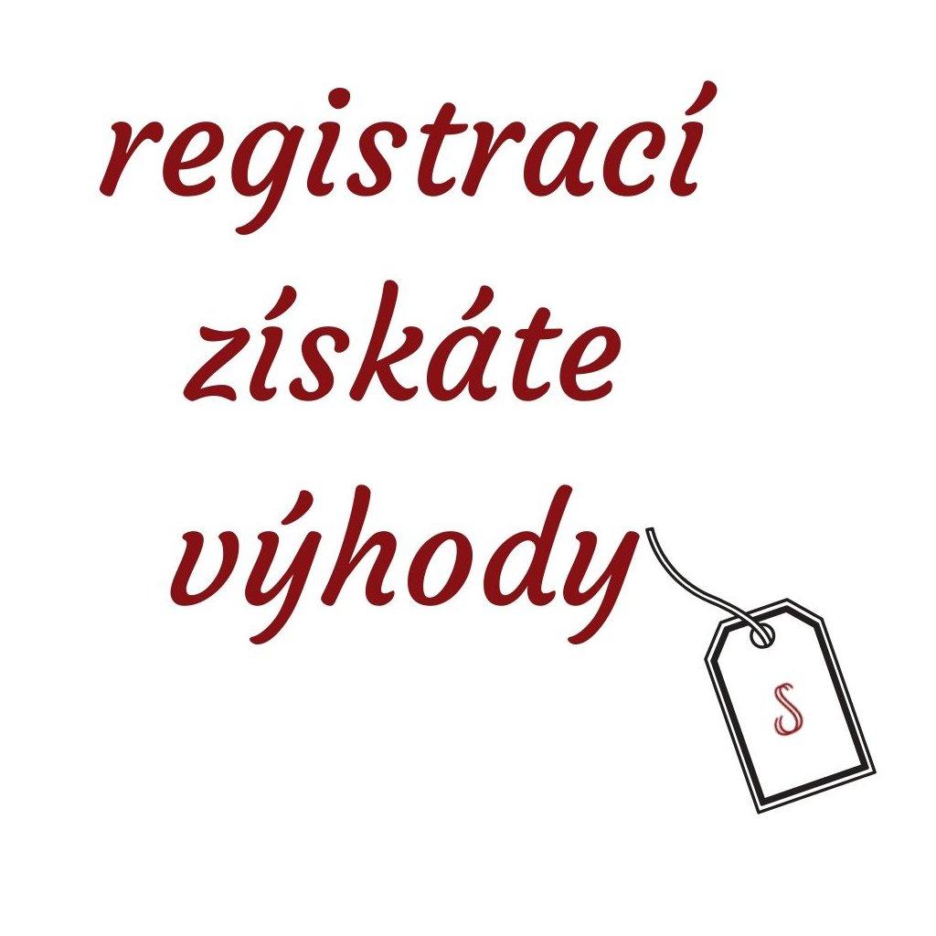 registrací získáte výhody
