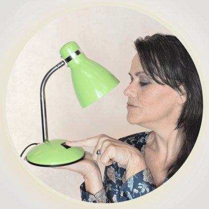 lampička zelena pro dite na stul obchod svitidla