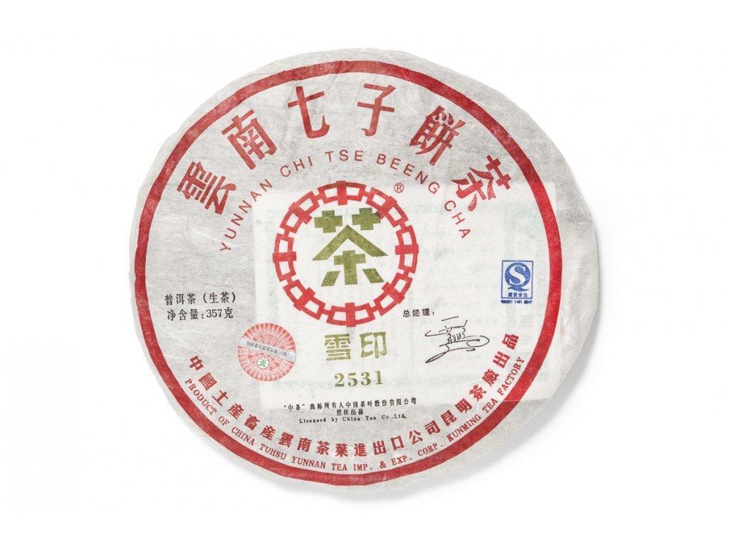 2007 Yunnan Kunming TF 2531 Sheng Puerh Beeng Cha