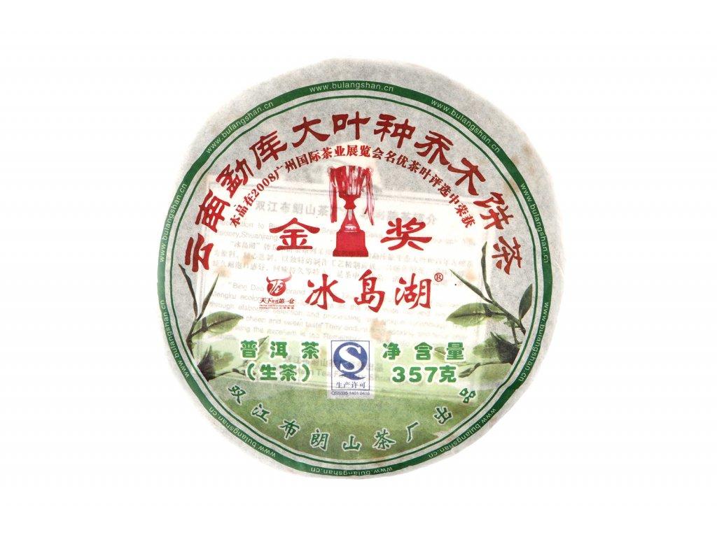 2008 Bu Lan Shan Bing Dao Sheng Puerh Beeng Cha 357g
