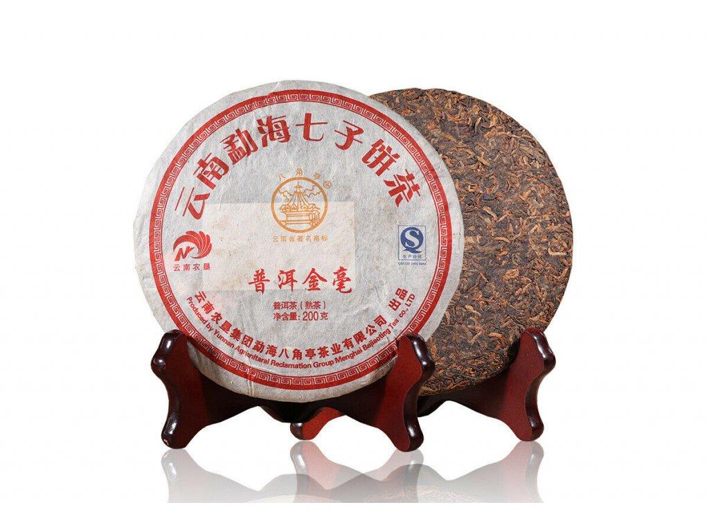 2015 Yunnan Jin Hao Shu Puerh Beeng Cha 200g