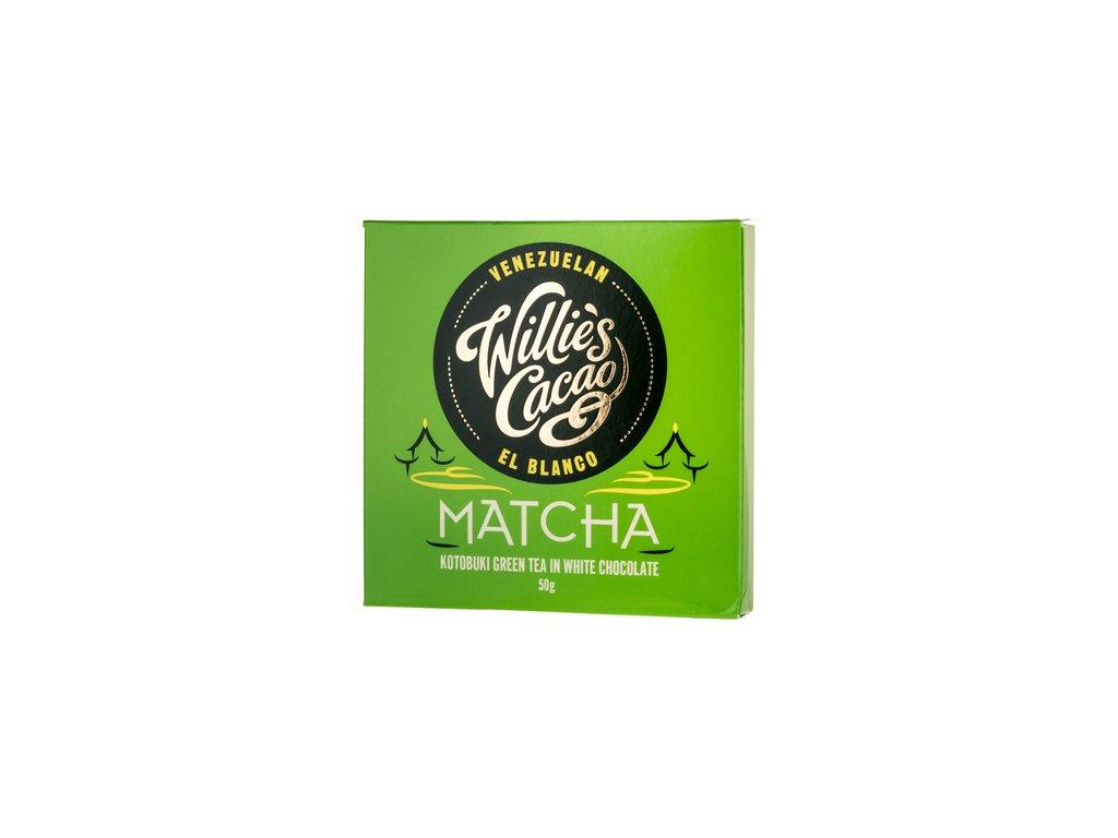 Willie's Cacao Matcha 39% bílá čokoláda s čajem Matcha 50g
