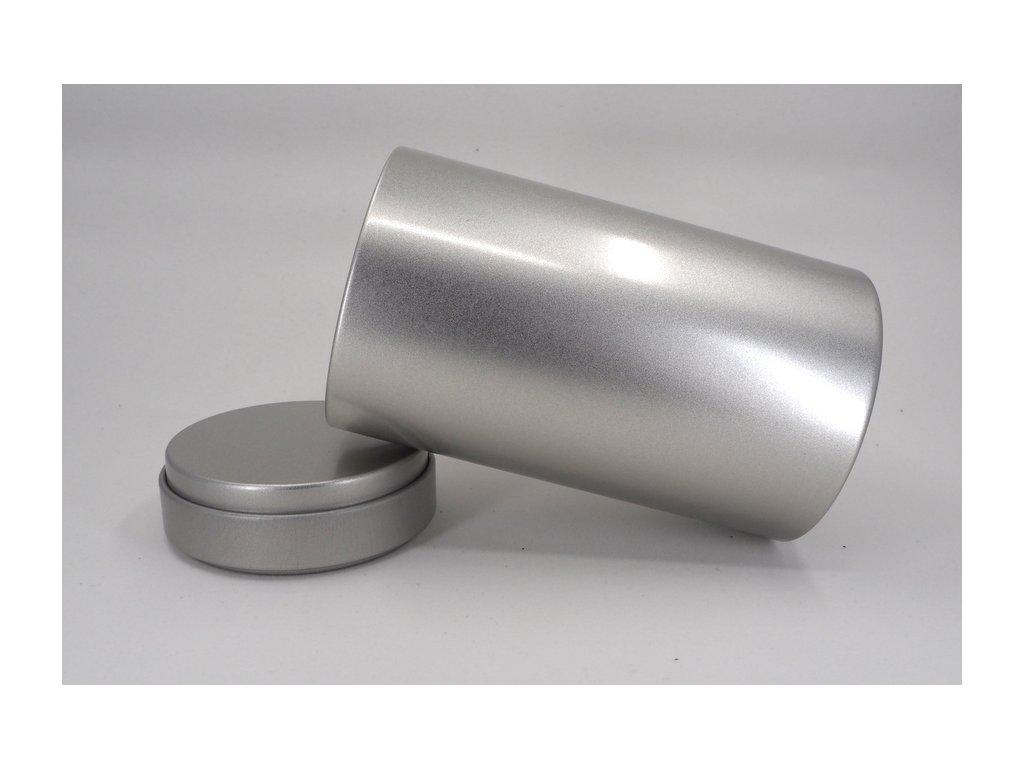 Stříbrná dóza střední