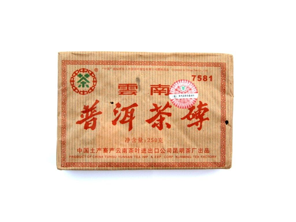 2006 CNNP Kunming Tea Factory 7581 Shu Pu-erh Zhuan Cha 250g