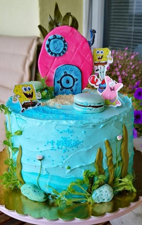 L. Holmoková - zapichovátka SpongeBob, jedlá farba