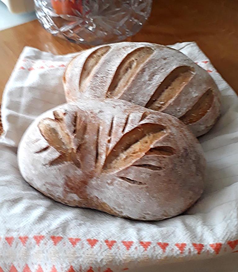 D. Hromadová - narezávatko s oblou čepeľou, chlebové korenie