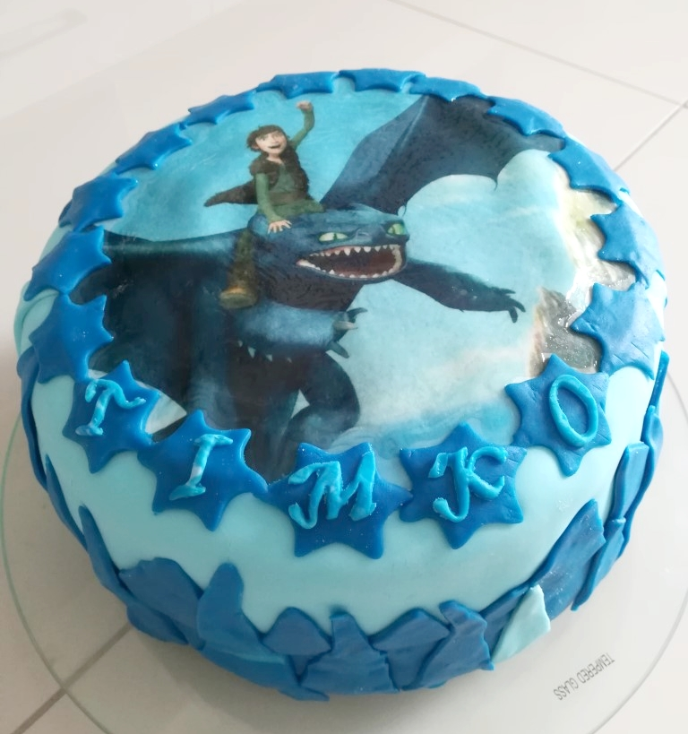 M. Olajcová - poťahová hmota modrá Rainbow a Funcakes, jedlý obrázok