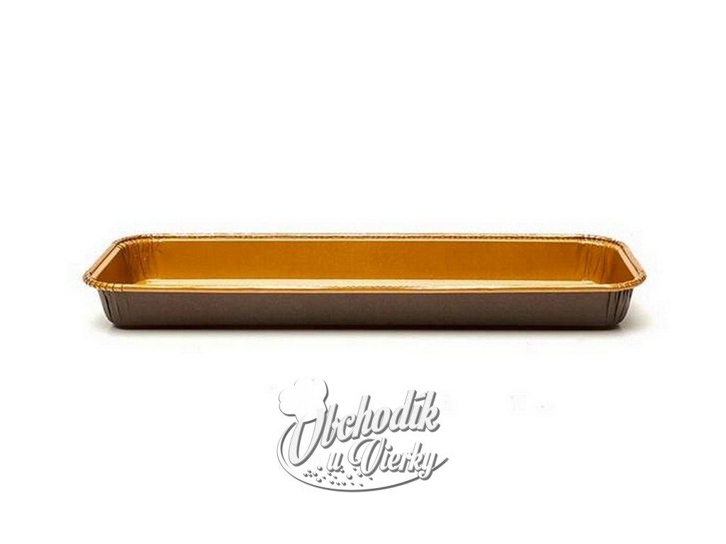 HRANATÁ papierová forma na pečenie nízkych koláčov 29 x 10,5 x 2,5 cm