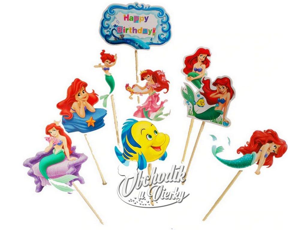 Ariel (malá morská víla) zapichovátka 9 ks
