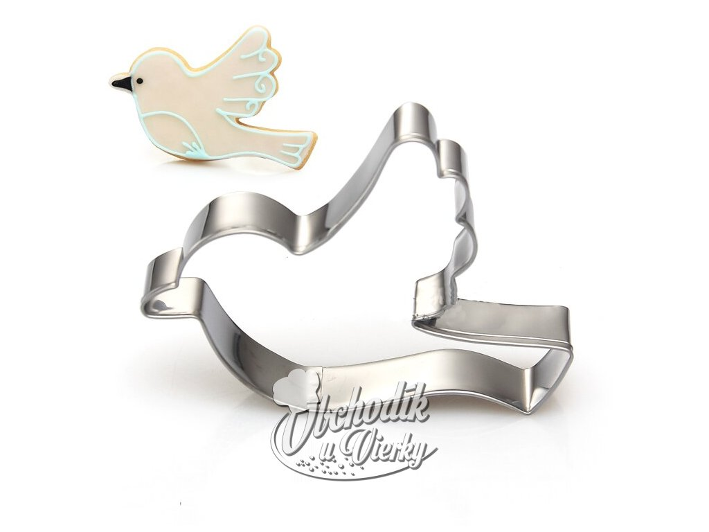 Stainless steel biscuit fondant mold little bird cookie cutter