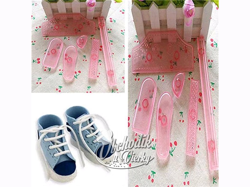 Vykrajovačky 6 ks na výrobu detských topánok z marcipánu 1