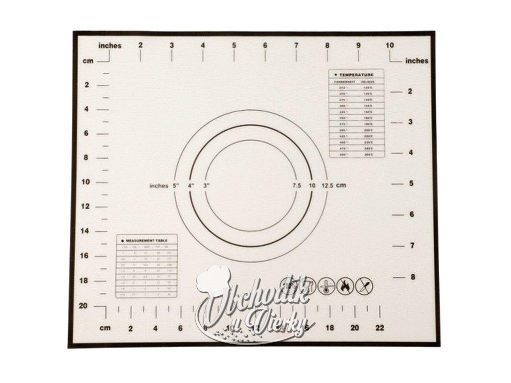 Silikónová podložka na cesto s pravítkom a prepočtami jednotiek 29 x 26 cm 1
