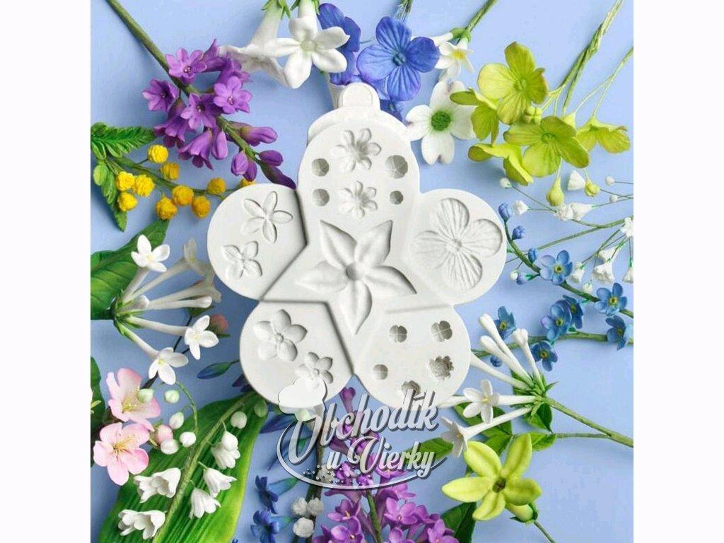 KVETY rôzne druhy silikónová forma (kvet)1
