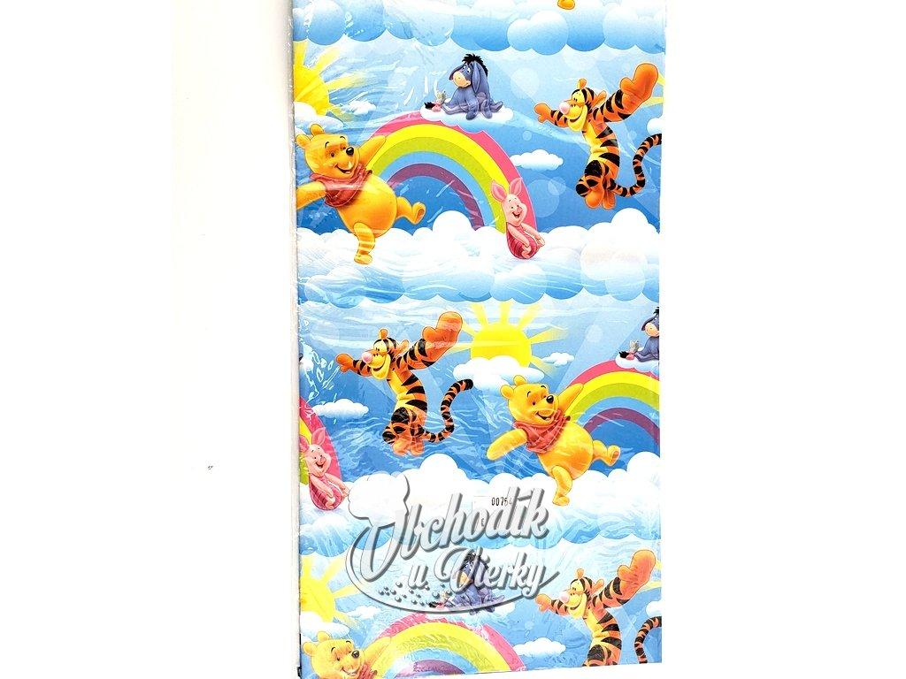 Darcekový baliaci papier Macko Pú 2 hárky 50 x 69 cm