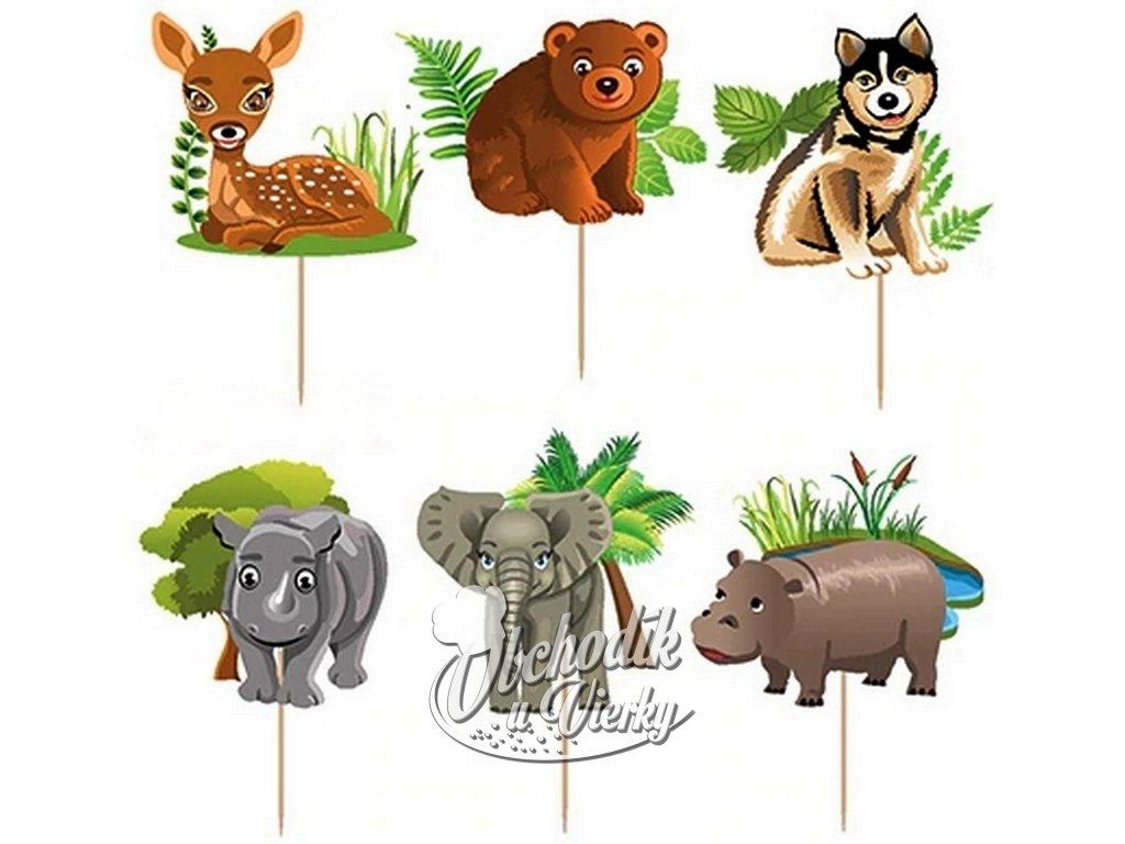 Zvieratká 1 AFRIKA zapichovátka 24 ks