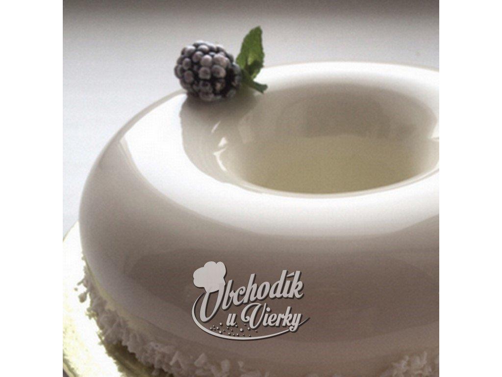 Biela zrkadlová čokoládová poleva