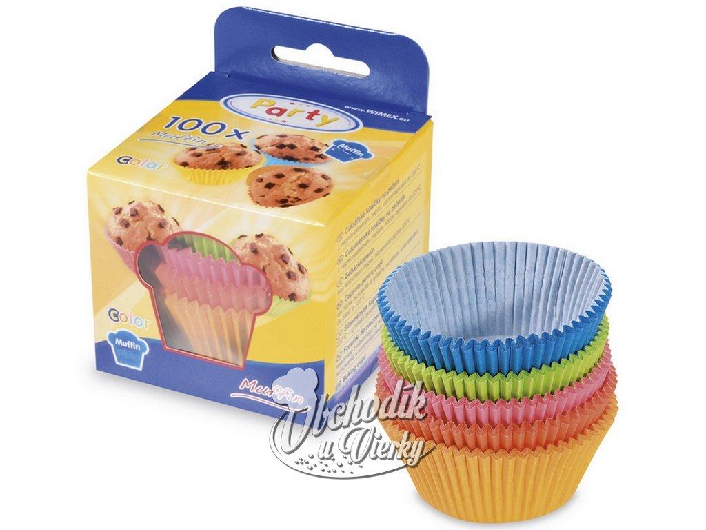 Papierové košíčky na MINI muffiny farebné 3,5x2 cm 100 ks 1