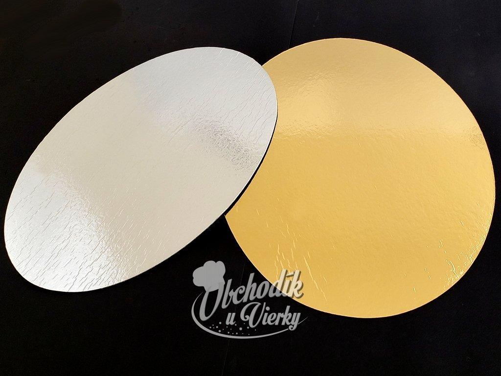 Podložka oválna obojstranná zlato strieborná 39x29 cm 1