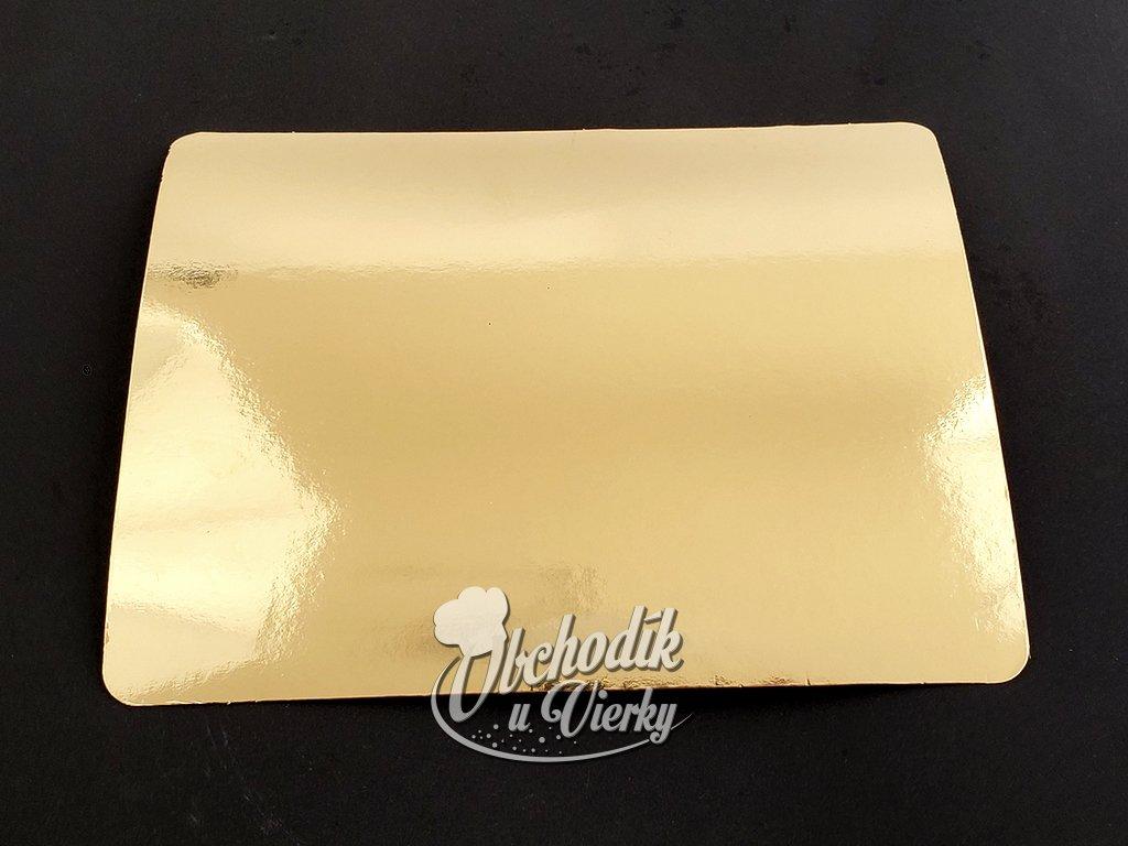 Podložka obdĺžniková zlatá 25,6x20,6 cm