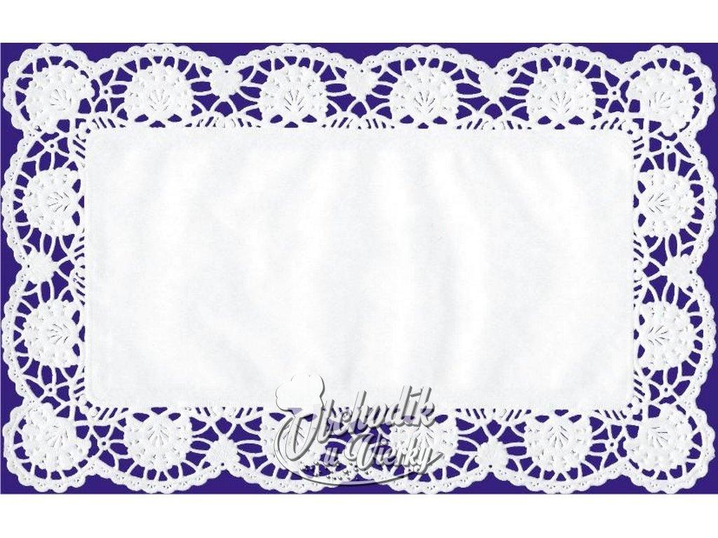 Ozdobný papier pod tortu zákusky obdĺžnikový 20x40 cm (6 ks)