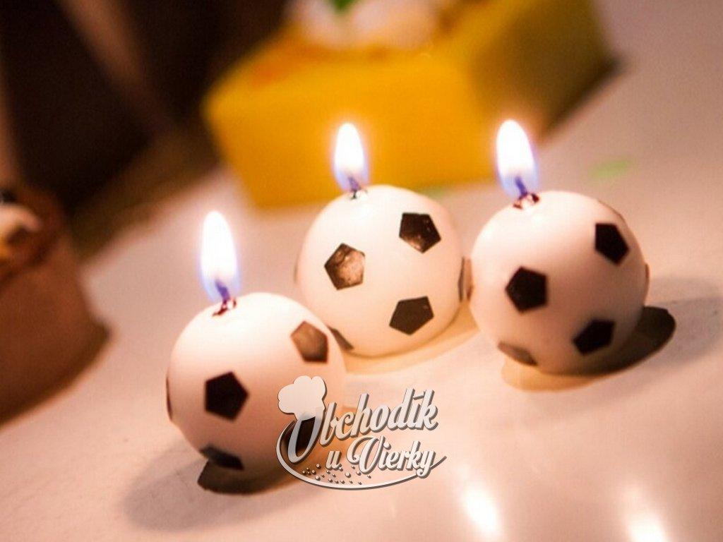 Sviečky FUTBALOVÉ LOPTY 6 ks 1