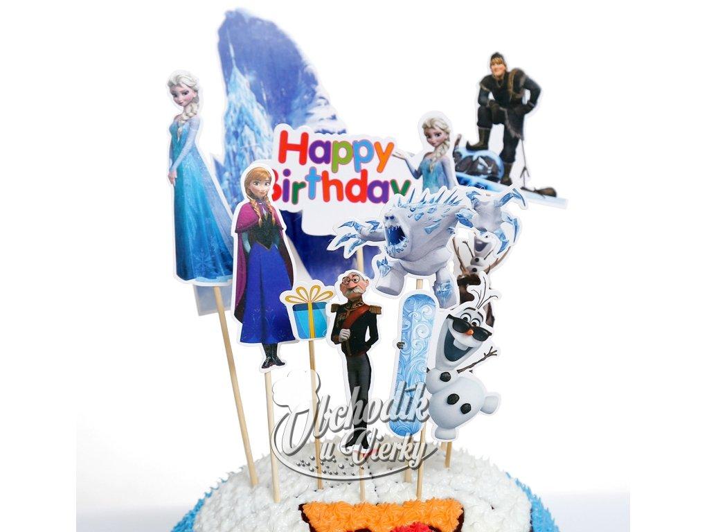 Frozen (Ľadové kráľovstvo) zapichovátka veľké 10 ks