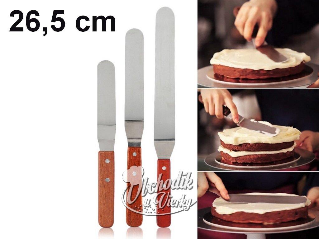 Roztierací nôž cukrársky s ohnutou čepeľou 26,5 cm
