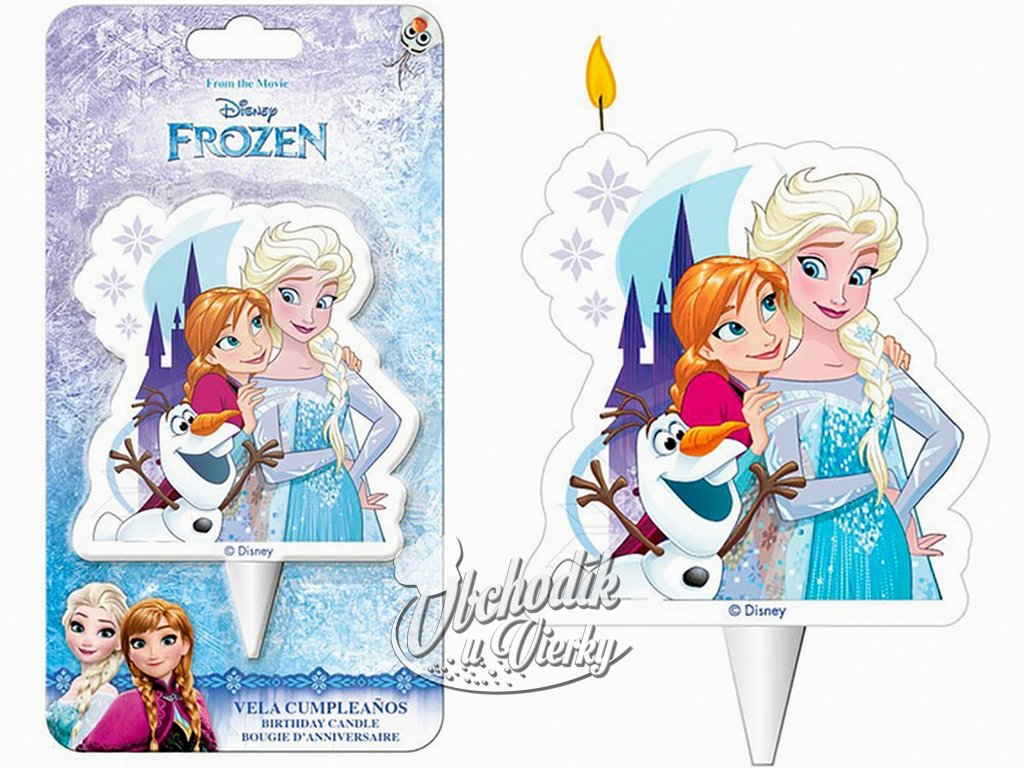 Sviečka FROZEN Elsa, Anna a Olaf
