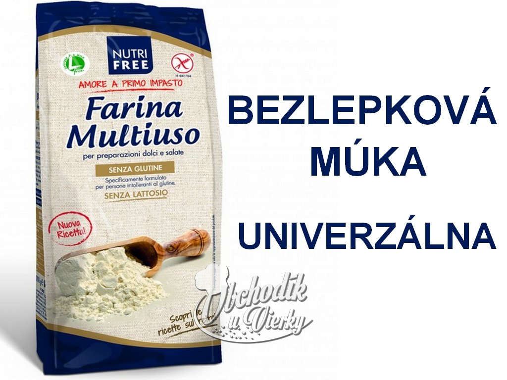 Bezlepková múka UNIVERZÁLNA Farina Multiuso NUTRI FREE 1kg