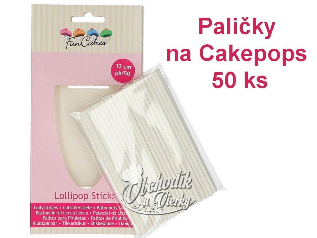 Paličky na Cakepops 50 ks FunCakes 12 cm 1
