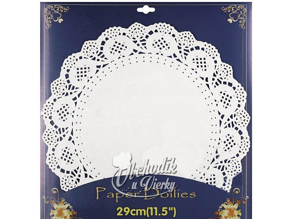 Ozdobný papier pod tortu 20 ks O 29 cm (čipka krajka)