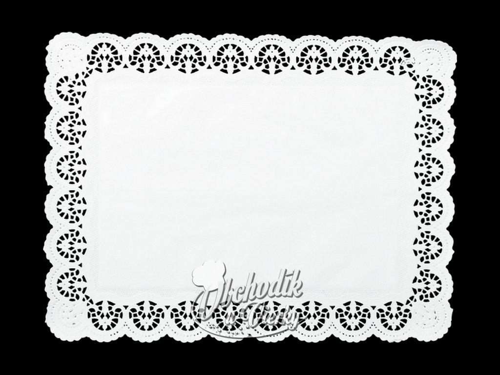 Ozdobný papier pod tortu obdĺžnikový 30 x 40 cm (6 ks)
