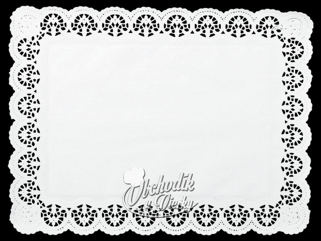 Ozdobný papier pod tortu obdĺžnikový 36 x 46 cm (6 ks)
