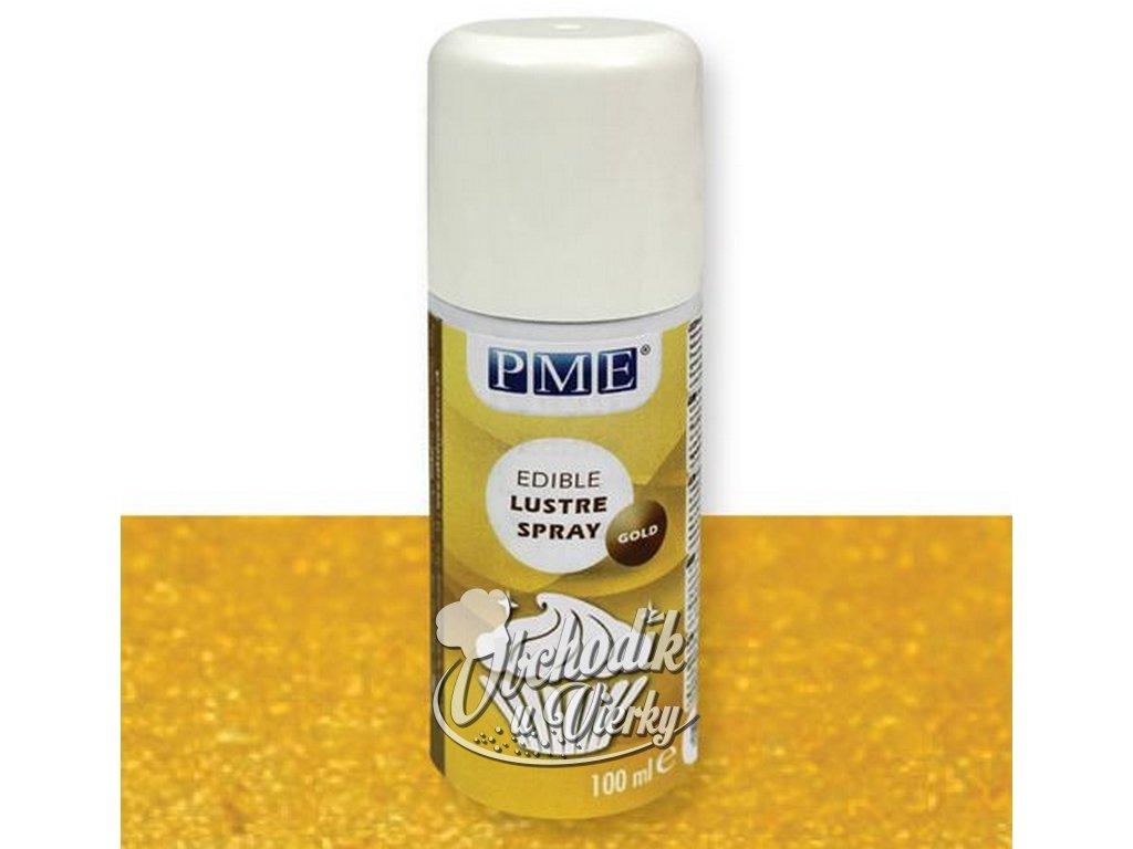 Jedlá sprejová farba zlatá GOLD lesklá 100 ml PME