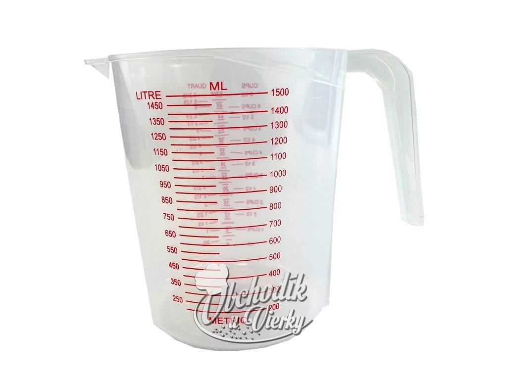 Plastová odmerka 1500 ml