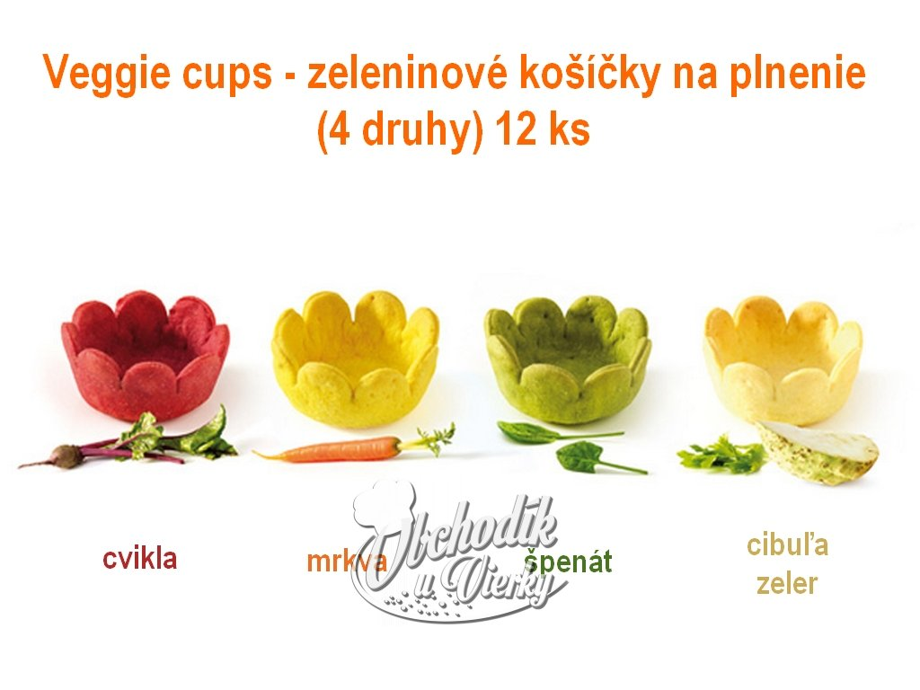 Veggie cups zeleninové košíčky na plnenie (4 druhy) 12 ks 1