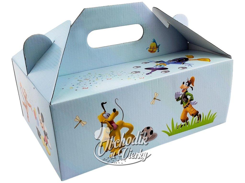 Zákusková krabica kašírovaná s úchytkou (detský motív DISNEY) 26 x 19,5 x 10 cm 1