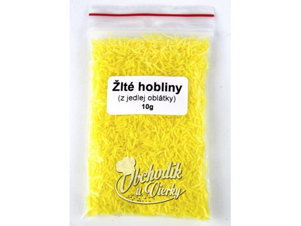 Žlté hobliny z jedlej oblátky 10g