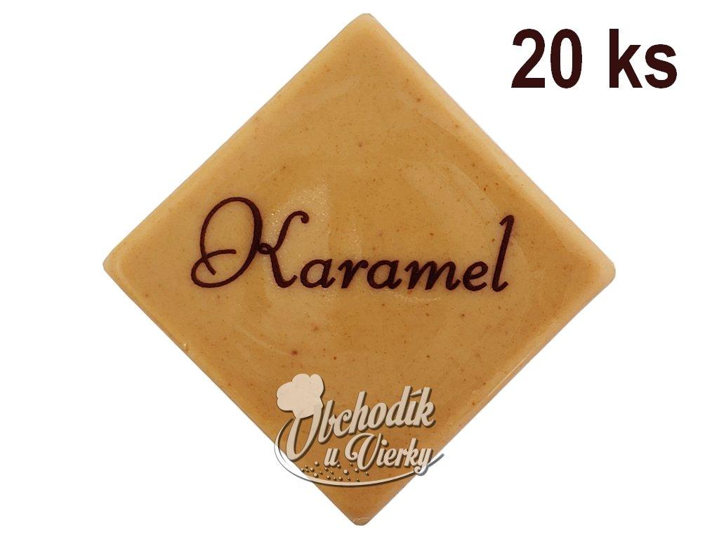Čokoládky s nápisom KARAMEL 20 ks 1