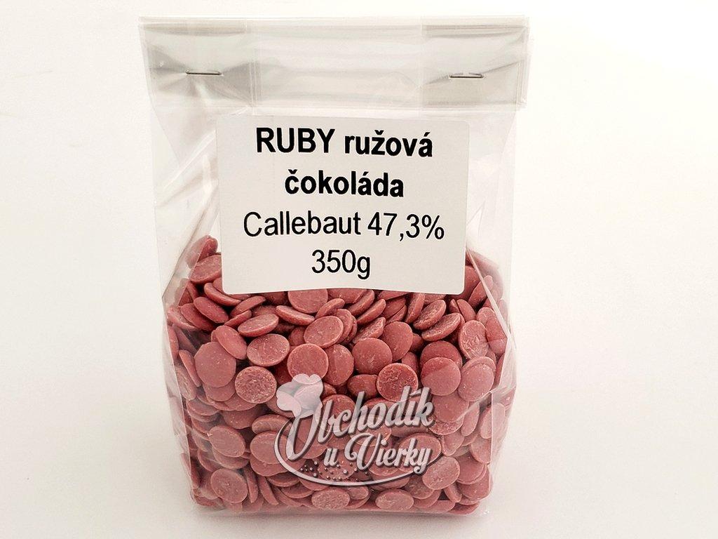 RUBY ružová čokoláda Callebaut 47,3% 350g