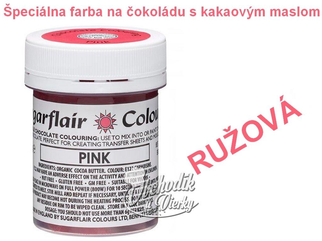 Špeciálna farba na čokoládu s kakaovým maslom RUŽOVÁ 35g