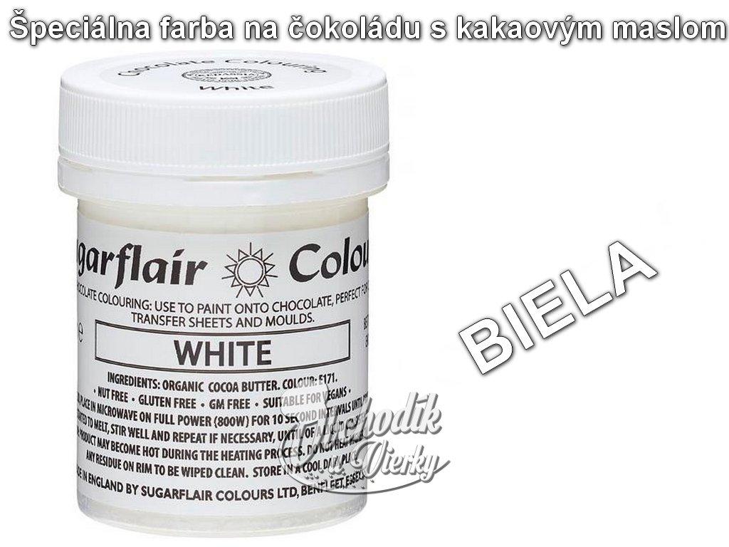 Špeciálna farba na čokoládu s kakaovým maslom BIELA 35g