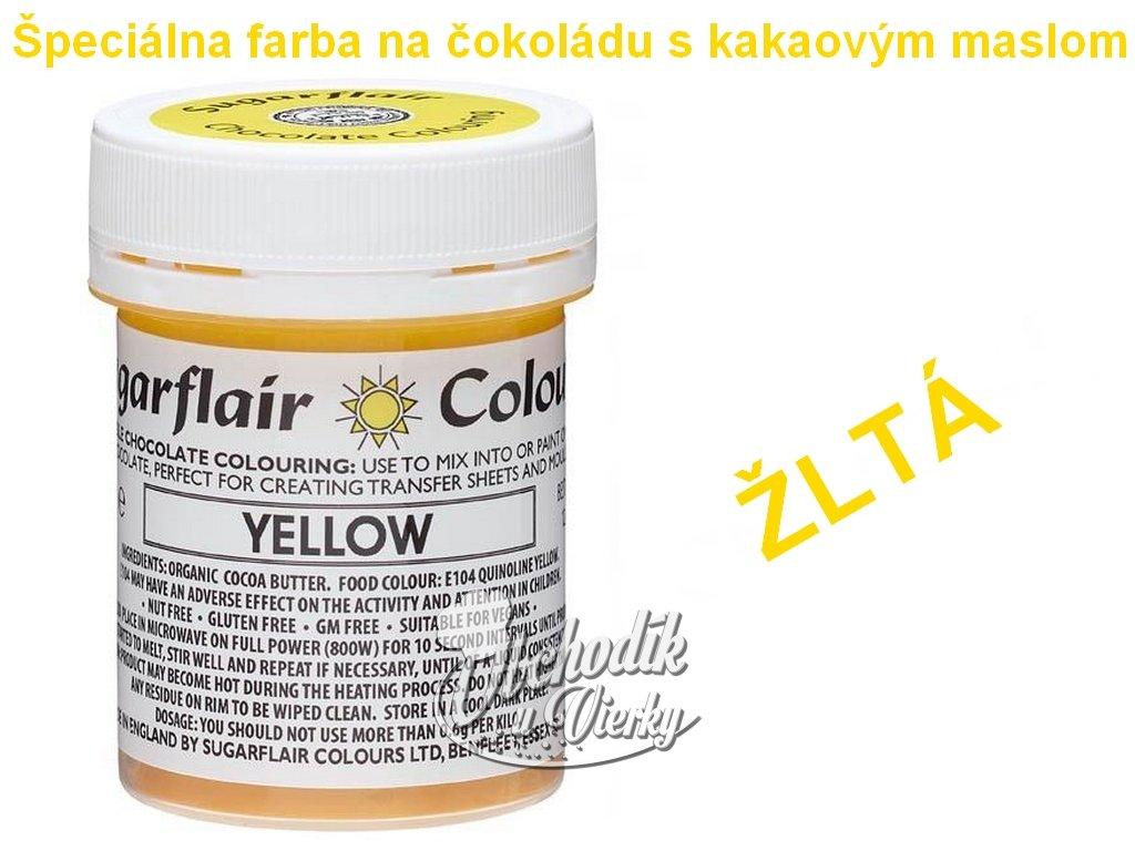 Špeciálna farba na čokoládu s kakaovým maslom ŽLTÁ 35g